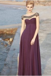 Robe de soiree chic prune