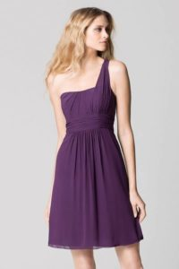 Robe de soiree chic violet