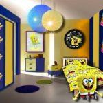 cambre d'enfant bleu et jaune