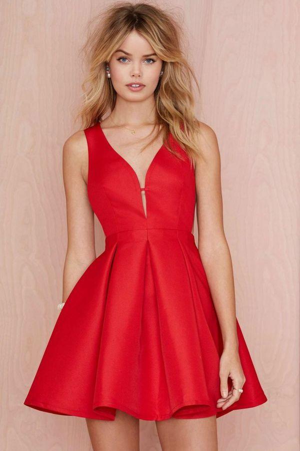Robe 60's rouge