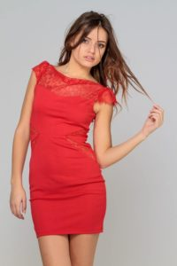 Robe rouge fourreau