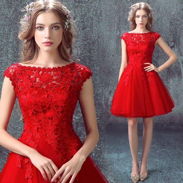 Robe de soiree rouge hiver