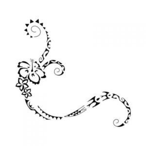 Tatouage fleur maorie dessin