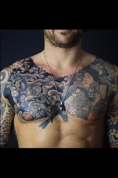 Tatouage japonais torse
