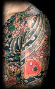 Tatouage japonais bras et torse