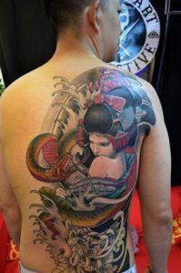 Tatouage japonais dos