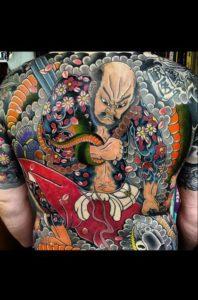 Tatouage japonais ninja
