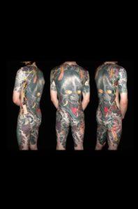 Tatouage japonais dos homme