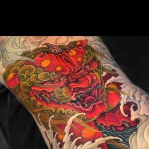 Tatouage japonais couleur