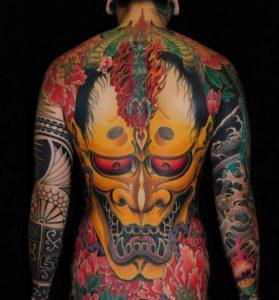 Tatouage japonais dos couleur