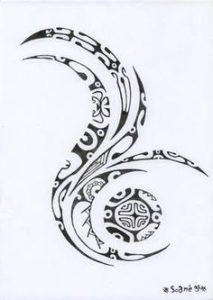 Tatouage maorie femme dessin