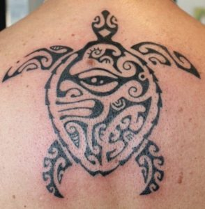 Tatouage de tortue dos