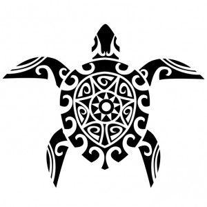 Tatouage maorie femme dessin tortue