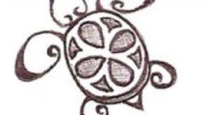 Tatouage de tortue maorie dessin