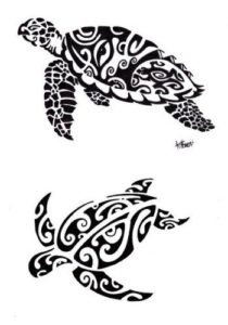 Tatouage de tortue maorie