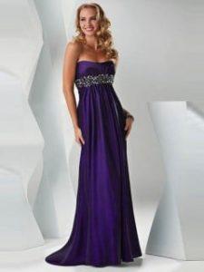 Robe de bal de promo violet