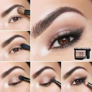 Maquillage nude yeux marron exemple