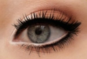 Maquillage nude yeux marron noir