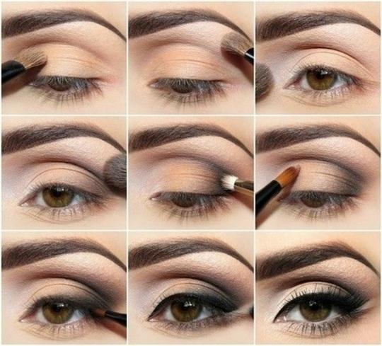 Maquillage nude yeux marron tuto