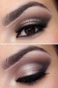 Maquillage nude yeux marron plusieurs magnifique