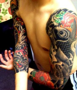 Tatouage japonais bras