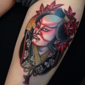Tatouage japonais guerrier