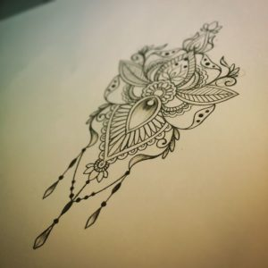 Tatouage mandala bras dessin
