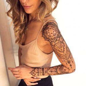 Tatouage mandala bras entier