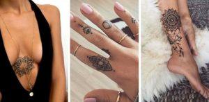Tatouage de mandala poignet main