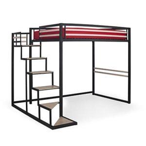 Lit mezzanine 2 places avec escalier