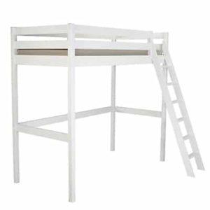 Lit mezzanine 2 places blanc