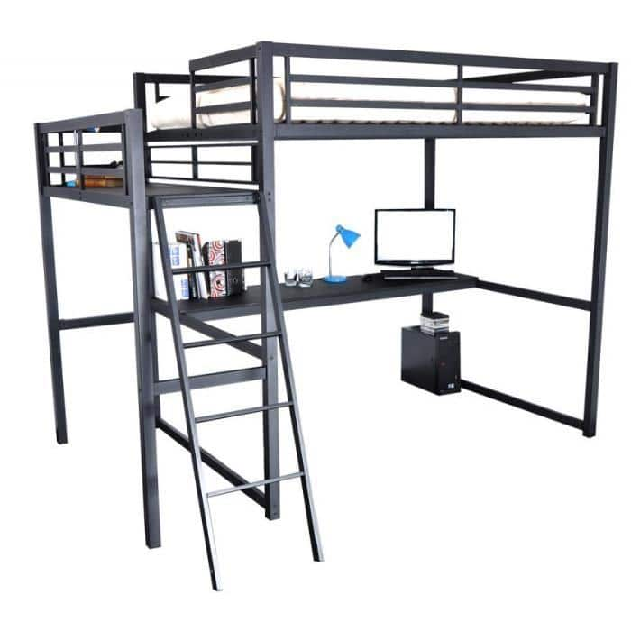 lit mezzanine 2 places id ale dans une chambre. Black Bedroom Furniture Sets. Home Design Ideas