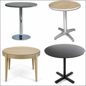 Table de cuisine ronde styles