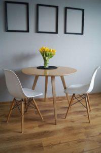 Table de cuisine ronde bois