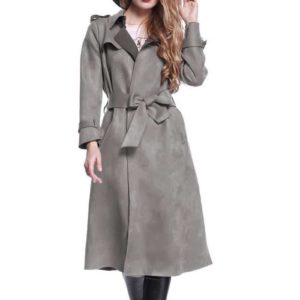 Trench coat femme gris