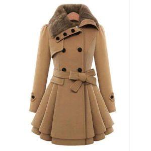 Trench coat femme beige