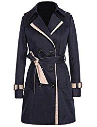 Trench coat femme bleu