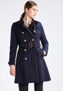 Trench coat femme bleu marine