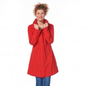 Trench coat femme rouge