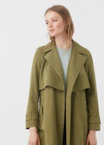 Trench coat femme vert