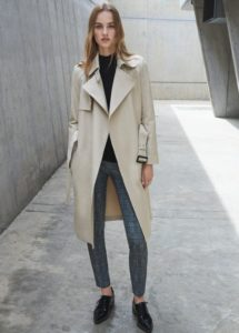 Trench coat femme blanc