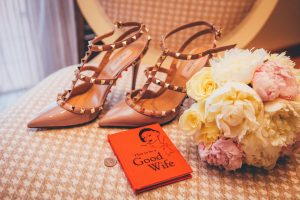 Chaussure de mariage femme rose