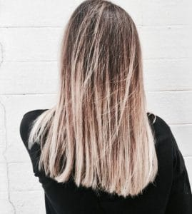 Tie and dye blond